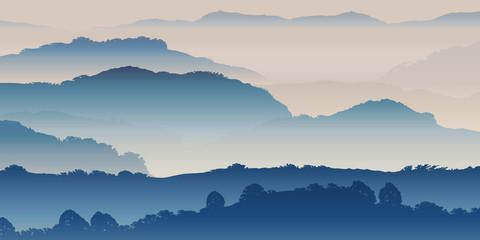 Paysage Montagnes-Brume