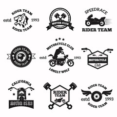 Bikers badges emblems vector icons