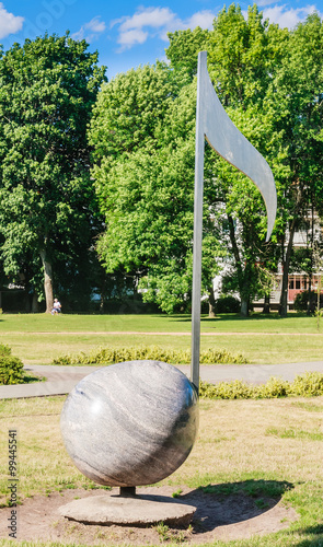 Druskininkai Lithuania  city pictures gallery : Park musical instruments. Druskininkai. Lithuania