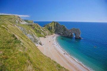 Wall Mural - Dorset, Jurassic Coast, Isle of Purbeck, St. Oswald's Bay; Durdle Door