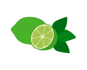 Flat icon fruit lime