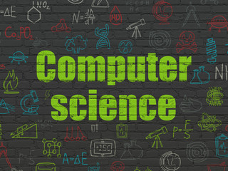 Science concept: Computer Science on wall background