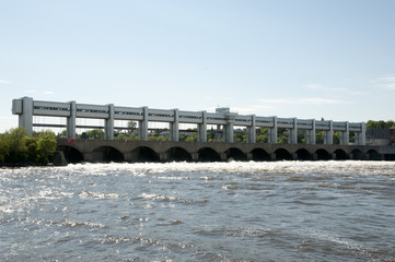 Central Power Station of Prairies River - Montreal - Canada