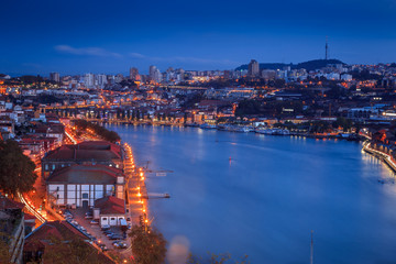 Panoramic view river Douro, Porto
