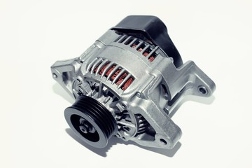 New alternator on a white background