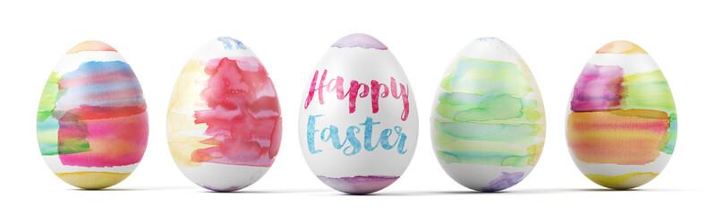 Happy Easter auf buntem Osterei