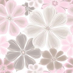 Flowers seamless background. Floral seamless texture with flower
