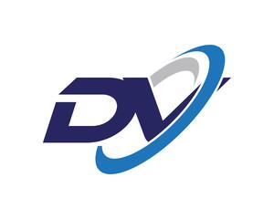 DV Letter Swoosh Visual Logo