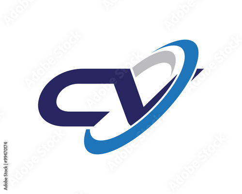 u0026quot cv letter swoosh visual logo u0026quot  stock image and royalty