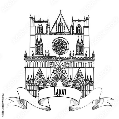 Framous french architectura travel france label lyon - Coloriage lyon ...