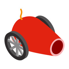 Circus cannon isometric 3d icon