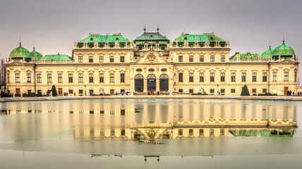 Belvedere Palace in cloudy day