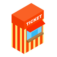 Circus ticketing isometric 3d icon