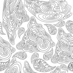 black-and-white seamless pattern for coloring books