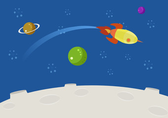 space background sky and color planets