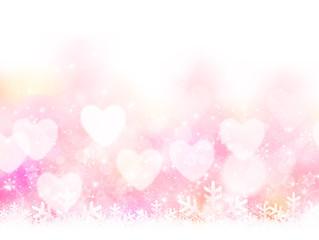 バレンタイン ハート 光 背景