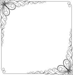 frame floral for sticker cut