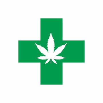 Marijuana Leaf Logo Icon