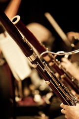 Fototapete - Bassoons in the orchestra closeup