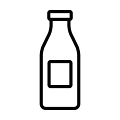 Milk bottle container line art icon for apps and websites