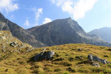 Mountain Säulkopf in Hohe Tauern Alps, Austria