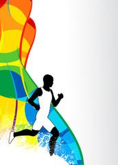 Running sport background
