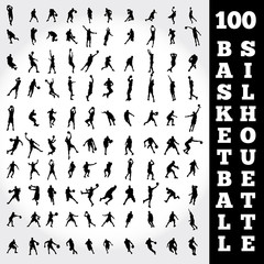 100 Basketball Silhouette