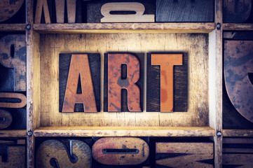 Art Concept Letterpress Type