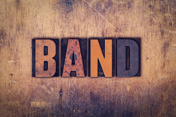 Band Concept Wooden Letterpress Type