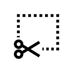 Coupon, scissor line icon