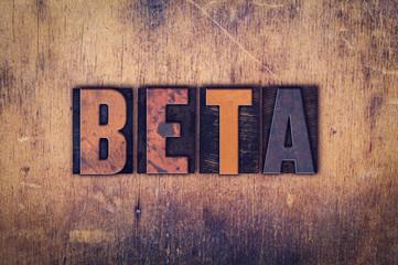 Beta Concept Wooden Letterpress Type