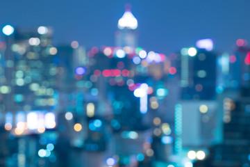Bangkok city blurry abstract