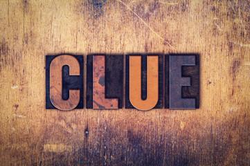 Clue Concept Wooden Letterpress Type