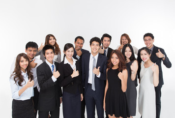 Business Team showing thumb.