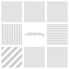 Simple striped patterns, seamless