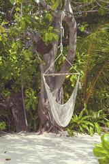 Hanging  hammock in the Maldives