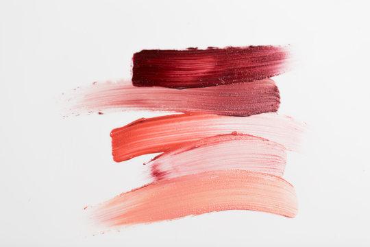 close up of lipstick smear sample
