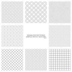 Set of vector seamless ornamental patterns