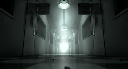 Obraz Mental Asylum Haunted - fototapety do salonu