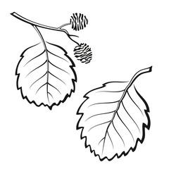 Alder Leaves, Pictogram Set