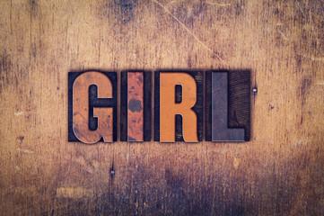 Girl Concept Wooden Letterpress Type