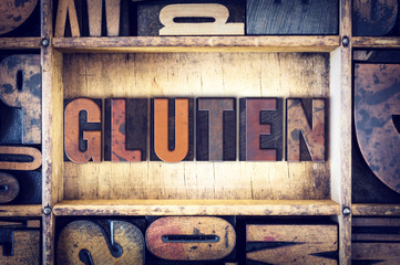 Gluten Concept Letterpress Type