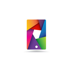 Mobile Colorful Frame Logo