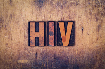 HIV Concept Wooden Letterpress Type