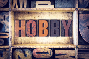 Hobby Concept Letterpress Type Wall mural