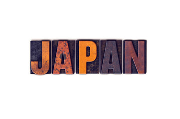Japan Concept Isolated Letterpress Type