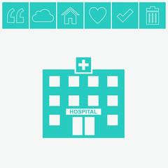 Hospital vector icon.