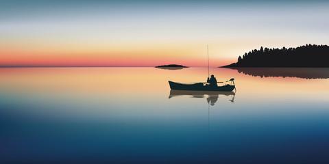Paysage Pêcheur-Lac