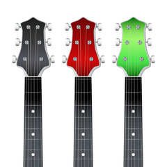 Set of Guitar neck fretboard and headstock