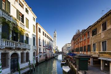 Altstadt mit  San Giorgio dei Greci in Venedig, Italien